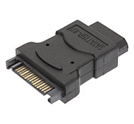 SATA 15-Pin Stecker auf 4-Pin Female Power Adapter