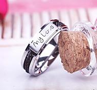 "único anillo negro de eruner®men ""mi amor"" (diferentes tamaños)"