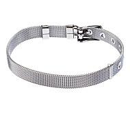 8 milímetros de aço inoxidável de malha Belt Superfície Ladies Bracelet