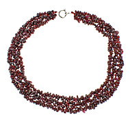 Natural Pomegranate Ruby Crystal Necklace