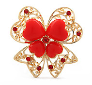 Butterfly Shape Heart Brooch(Random Color)