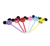 Animal Tie Textile Ornament Ballpoint Pen(3PCS Random Color)