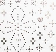 3PCS Mixed-Pattern Metal Nail Art Stickers Beautiful K Sery No.3