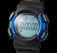 unisex freqüência cardíaca monitor preto de borracha da banda relógio de pulso digital multifuncional com hodômetro (cores sortidas)