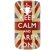 Vintage UK Flag with Words Pattern Hard Case for Samsung Galaxy Trend Duos S7562