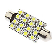 Festoon 41mm 1.5W 16xSMD3528 White Light LED Bulb for Car Reading Lamp (12V)