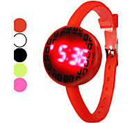 Unisex Fluorescence Silicone Band Digital LED Wrist Watch (Assorted Colors)