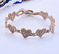 Korean Colorful Small Heart Lace Bracelet(Random color)