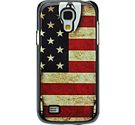 Retro Style US Flag Pattern Aluminum Hard Case for Samsung Galaxy S4 mini I9190