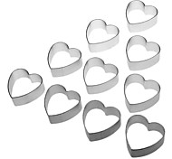 Heart Shaped Cake Biscuit Cookie Cutter (10pcs)