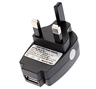 Universal UK USB-Wand-Energien-Adapter Schwarz