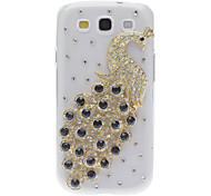 For Samsung Galaxy Case Rhinestone / Pattern Case Back Cover Case Animal PC Samsung S3