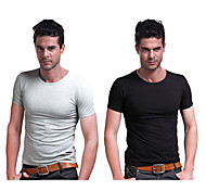 Running T-shirt Men's Short Sleeve High Breathability (>15,001g) / Quick Dry / Stretch Cotton / ElastaneCamping & Hiking / Fishing /
