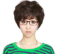 Capless Short High Quality Synthetic Brown Curly Hair Wig Charming