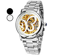 Women's Butterfly Style Silver Dial Steel Analog Auto-Mechanical Wrist Watch (Assorted Colors)