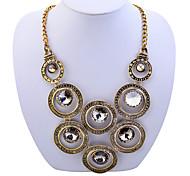 Lureme®Vintage Circles Connection Statement Necklace