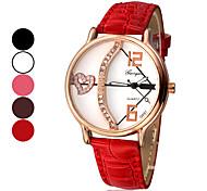 Arrow Pattern wijzerplaat pu lederen band Quartz Analoog Wrist Watch Women's Love's (verschillende kleuren)