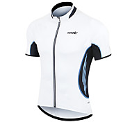 SANTIC Men's Cycling Jersey/Bike Jersey Short Sleeves 100% Polyester T-Shirt(Blue Lace)