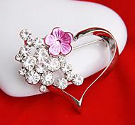 Frauen hohle Herz-Blumenbrosche