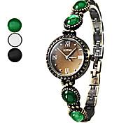 Women's Gem Band Alloy Analog Quarzt Bracelet Watch (Assorted Colors)