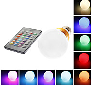 E26/E27 5 W 1 LM RGB / Color-Changing G60 Remote-Controlled Globe Bulbs AC 85-265 V