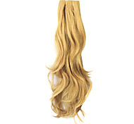 Sandy Blonde Clip in Synthetic Curly Hair Extensions with 5 Clips