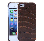 Crocodile Pattern PU Leather Hard Case with Interior Microfiber Protection for iPhone 5/5S (Optional Colors)