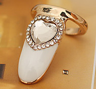 Exquisite Heart Shape Finger Nail Ring
