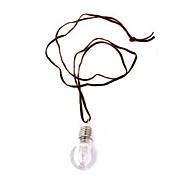 Korean jewelry cute baby personality color photoelectric light bulb sweater chain necklace N254
