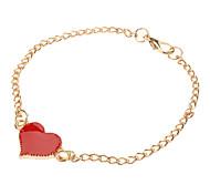 Enamel Metal Love Hearts Bracelet