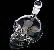 Novelty Skull Head Shape Wine Glass Bottle