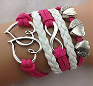 Heart figure 8 layers bracelet inspirational bracelets