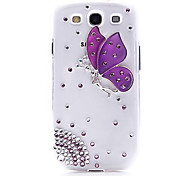 For Samsung Galaxy Case Rhinestone / Transparent / Pattern Case Back Cover Case Butterfly PC Samsung S3