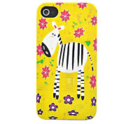 ABS Hand Painted Zebra Pattern Back Case for iPhone 4/4S