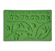 Fondant & Gum Paste Fabric Designs Silicone Mold Cake Decorating Leaf And Flower