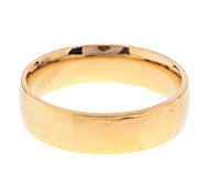Lureme®Men's Golden Simple Stainless Steel Ring(Assorted Size)