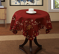"33 ""X33"" Modern Style Red pano de tabela Floral"
