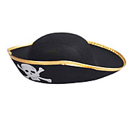 Pirate Captain Hat pour Halloween Costume Party (couleur aléatoire Brim)