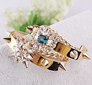 New Style Fashion Europe Three-layer Leather Bracelet