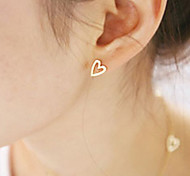 Stud Earrings Alloy Heart Heart Gold Silver Jewelry Party Daily