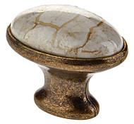 Clássico Cerâmica Oval Botão punho da gaveta
