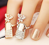 Butterfly Rhinestone Nail Ring(Random Color)