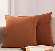 Set of 2 Solid Polyester Decorative Pillow Cover