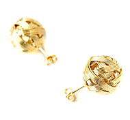Korean version of the hot metal wool balls earrings (random color)