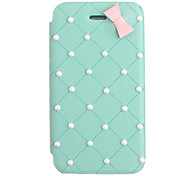 Bowknot Pérola PU Leather Case Full Body elegante para iPhone 4/4S (cores sortidas)