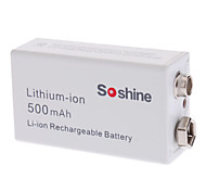 Soshine 500mAh Lithium-ion Rechargeable Battery (9V)