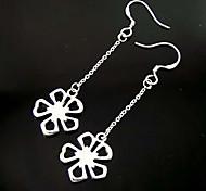 Silver Flower Fashion Jewelry Earrings