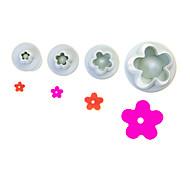 Flower Blossom Fondant Cake DIY Tool Set Of 4 Pieces
