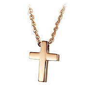 Ms rose gold plated cross titanium steel items