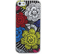 New Sense Call Flash Light LED Flower Color Changing Case Cover for iPhone 5